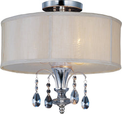Maxim Montgomery 3-Light Semi-Flush Mount Polished Nickel 24301CLBSPN