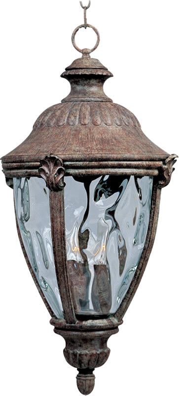 "11""W Morrow Bay Vivex 3-Light Outdoor Hanging Lantern Earth Tone"