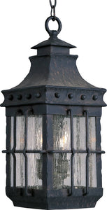 Maxim Nantucket 3-Light Outdoor Hanging Lantern Country Forge 30088CDCF