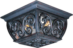 "11""w Newbury Vivex 2-Light Outdoor Ceiling Mount Oriental Bronze"