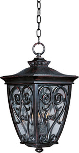 Maxim Newbury Vivex 3-Light Outdoor Hanging Lantern Oriental Bronze 40128CDOB