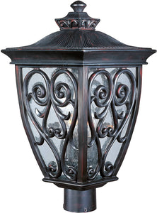 Maxim Newbury Vivex 3-Light Outdoor Pole/Post Mount Oriental Bronze 40120CDOB