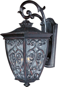 "25""h Newbury VX 3-Light Outdoor Wall Mount Oriental Bronze"