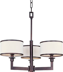 "21""w Nexus 3-Light Chandelier Oil Rubbed Bronze"