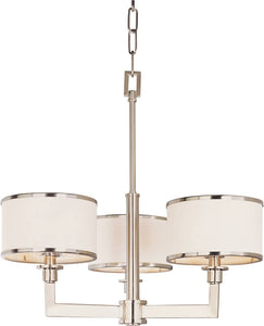 Maxim Nexus 3-Light Chandelier Satin Nickel 12054WTSN