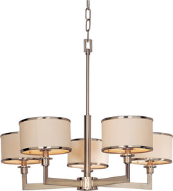 Maxim Nexus 5-Light Chandelier Satin Nickel 12055WTSN