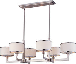 "39""w Nexus 6-Light Chandelier Satin Nickel"