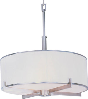 "22""W Nexus 4-Light Entry Foyer Pendant Satin Nickel"
