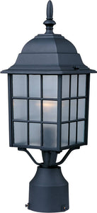 Maxim North Church 1-Light Outdoor Pole/Post Lantern Black 1052BK