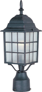 "17""h North Church 1-Light Outdoor Pole/Post Lantern Rust Patina"