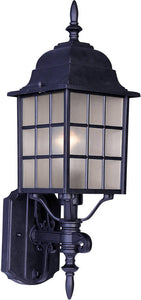 Maxim North Church 1-Light Outdoor Wall Mount Black 1050BK