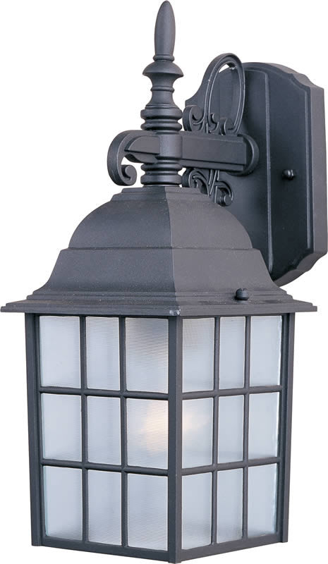 "11""h North Church 1-Light Outdoor Wall Lantern Black"