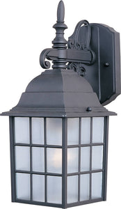 Maxim North Church 1-Light Outdoor Wall Lantern Black 1051BK