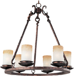 Maxim Notre Dame 6-Light Chandelier Oil Rubbed Bronze 10975WSOI