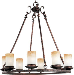 "30""w Notre Dame 8-Light Chandelier Oil Rubbed Bronze"