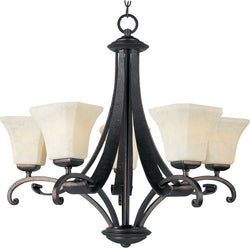 "28""w Oak Harbor 5-Light Chandelier Rustic Burnished"