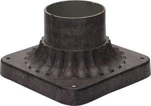 "4""H Maxim Outdoor Cast Pier Mount Earth Tone"
