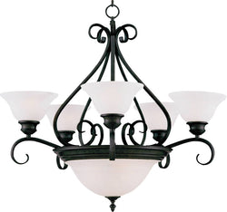 "27""w Pacific 7-Light Multi-Tier Chandelier Kentucky Bronze"