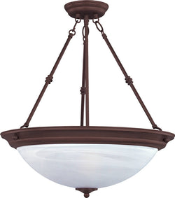 "15""w Maxim 3-Light Inverted Bowl Pendant Oil Rubbed Bronze"