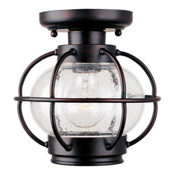 "8""w Portsmouth 1-Light Outdoor Ceiling Mount Oil Rubbed Bronze"