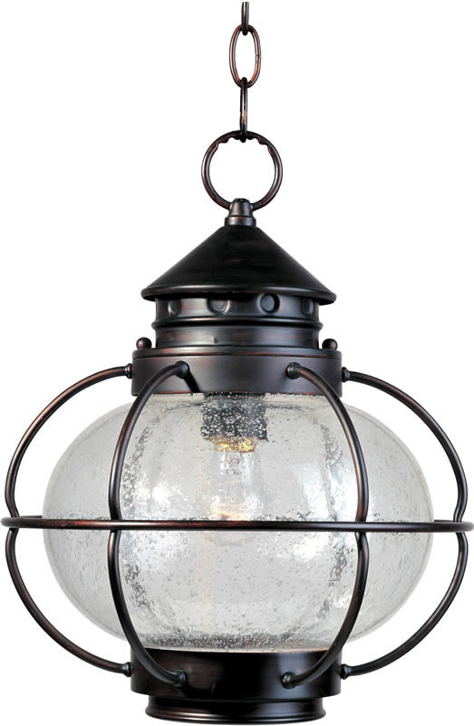 "12""W Portsmouth 1-Light Outdoor Hanging Lantern Oil Rubbed Bronze"
