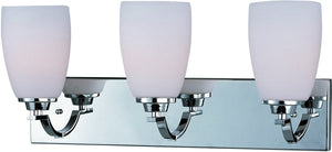 "22""W Rocco 3-Light Bath Vanity Polished Chrome"