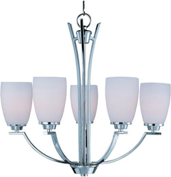Maxim Rocco 5-Light Chandelier Polished Chrome 20025SWPC