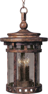 Maxim Santa Barbara Die-Cast Aluminum 3-Light Outdoor Hanging Lantern Sienna 3138CDSE
