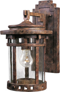 Maxim Santa Barbara Die-Cast Aluminum 1-Light Outdoor Wall Mount Sienna 3133CDSE
