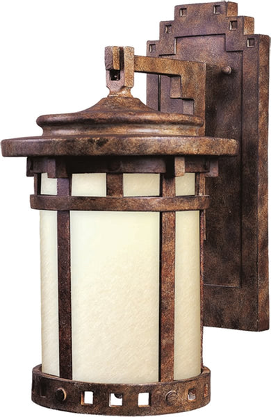 Maxim Santa Barbara LED 1-Light Outdoor Wall Lantern Sienna 55034MOSE