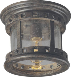 "9""w Santa Barbara Vivex 1-Light Outdoor Ceiling Mount Sienna"