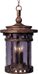 "11""w Santa Barbara Vivex 3-Light Outdoor Hanging Lantern Sienna"
