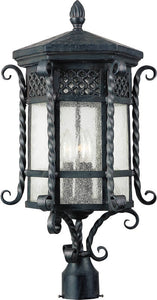 Maxim Scottsdale 3-Light Outdoor Pole/Post Mount Country Forge 30121CDCF