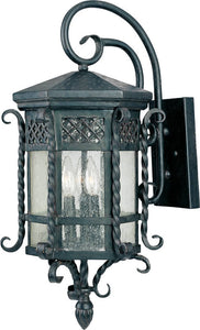 Maxim Scottsdale 3-Light Outdoor Wall Mount Country Forge 30124CDCF