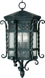 Maxim Scottsdale 3-Light Outdoor Hanging Lantern Country Forge 30128CDCF