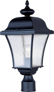 Maxim Governor 1-Light Outdoor Pole/Post Mount Black 1065BK