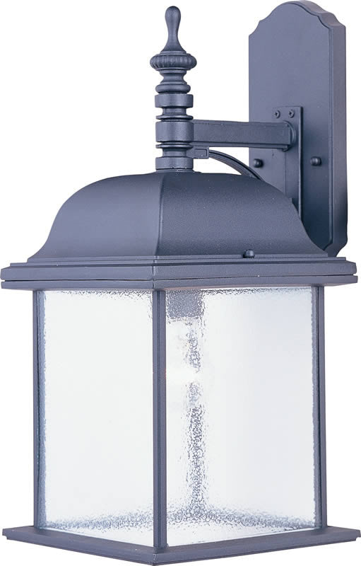 "19""h Senator 1-Light Outdoor Wall Lantern Black"