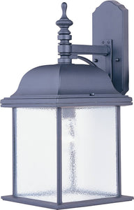 Maxim Senator 1-Light Outdoor Wall Lantern Black 1057BK