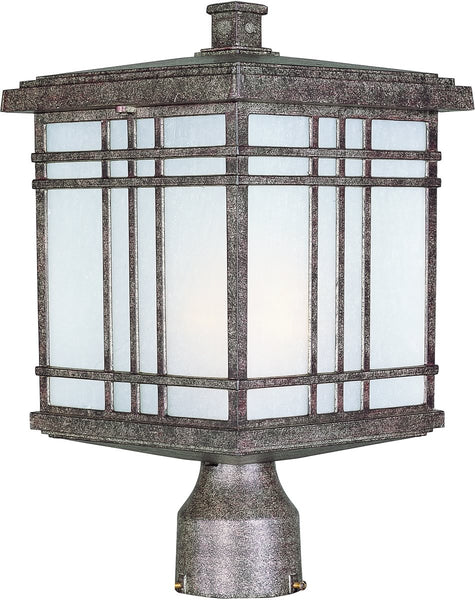 Maxim Sienna 1-Light Medium Outdoor Post Earth Tone 3320FSET
