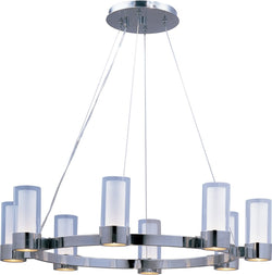 "32""w Silo 8-Light Chandelier Polished Chrome"