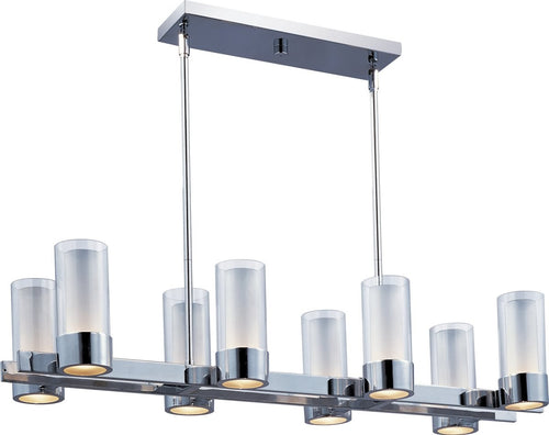 "35""w Silo 8-Light Pendant Polished Chrome"