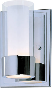 Maxim Silo 1-Light Wall Sconce Polished Chrome 23071CLFTPC
