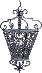 "22""w Southern 4-Light Entry Foyer Pendant Kentucky Bronze"