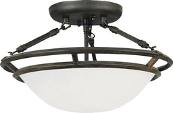 "15""w Stratus 3-Light Semi-Flush Mount Bronze"