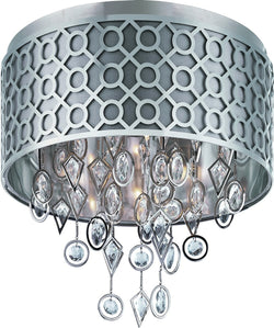Maxim Symmetry 5-Light Flush Mount Polished Nickel 22380STPN
