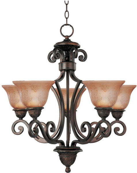 "26""w Symphony 5-Light Chandelier Oil Rubbed Bronze"