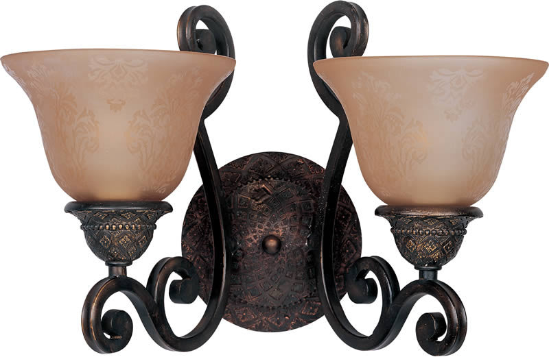 "16""w Symphony 2-Light Wall Sconce Oil Rubbed Bronze"
