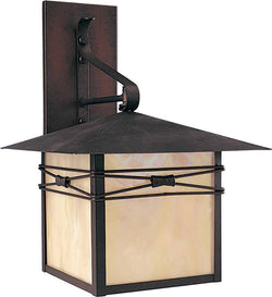 "17""h Taliesin 1-Light Outdoor Wall Mount Burnished"