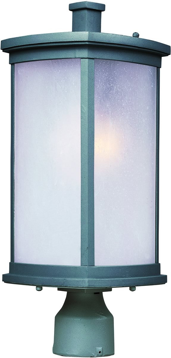 "19""H Terrace 1-Light Medium Outdoor Post Platinum"