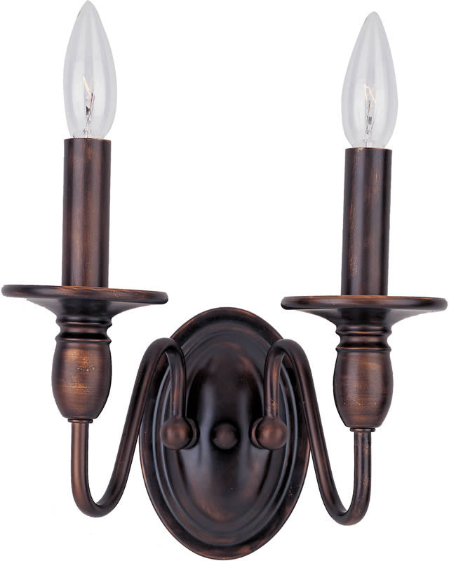 "10""w Towne 2-Light Wall Sconce Oil Rubbed Bronze"